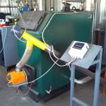 Твердотопливный котел с факельной горелкой мощностью от 20кВт до 100кВт